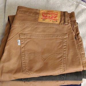 NWOT Levi's Mens 502 Soft Twill Pants 34 x 30